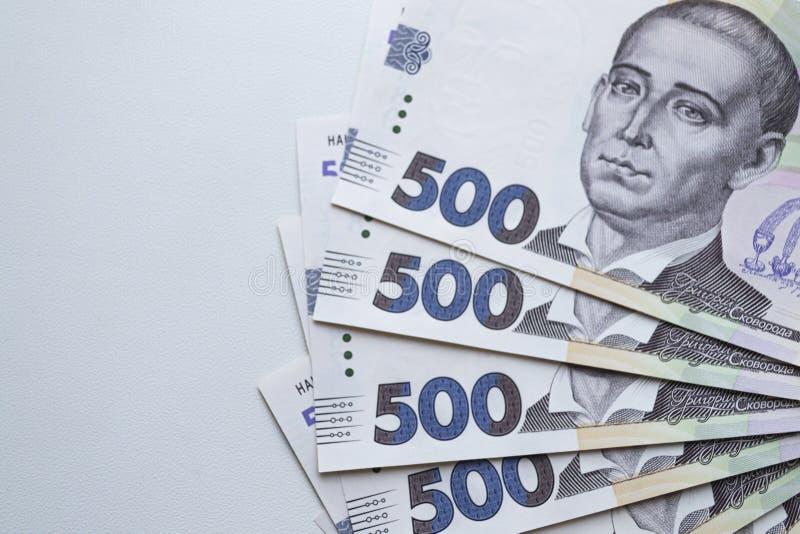 Waluta ukraińska Nowe banknoty na Ukrainie obraz royalty free