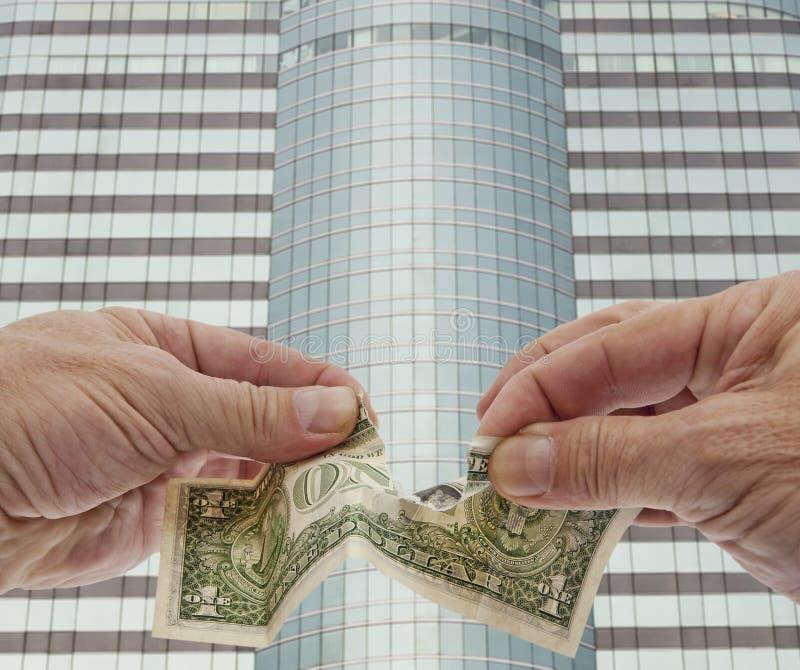 waluty deprecjaci dolar słaby zdjęcie stock