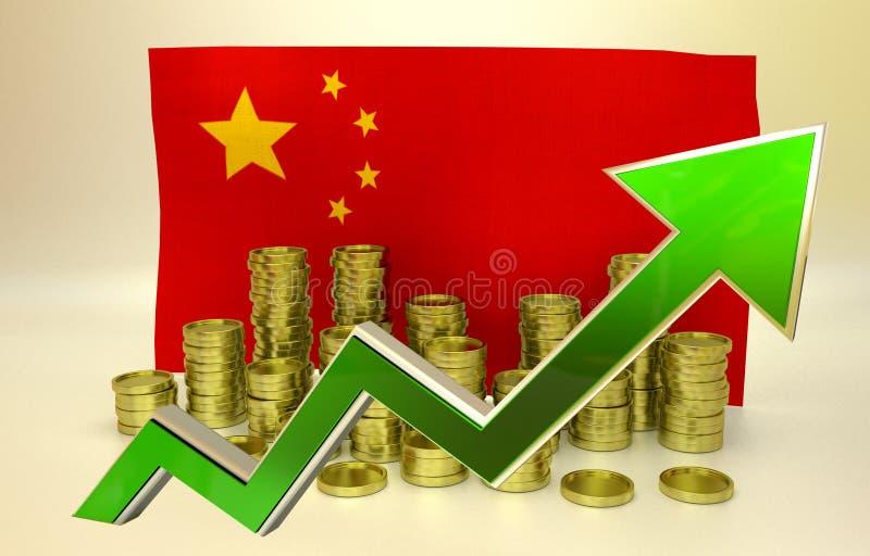 Waluty docenienie - chińczyk Juan royalty ilustracja