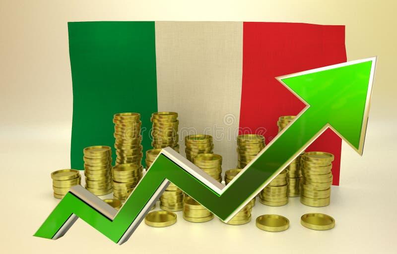 Waluty docenienie - Włoska gospodarka ilustracji