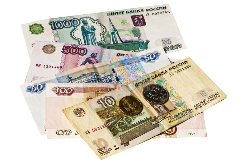 waluty rubel Russia zdjęcie stock