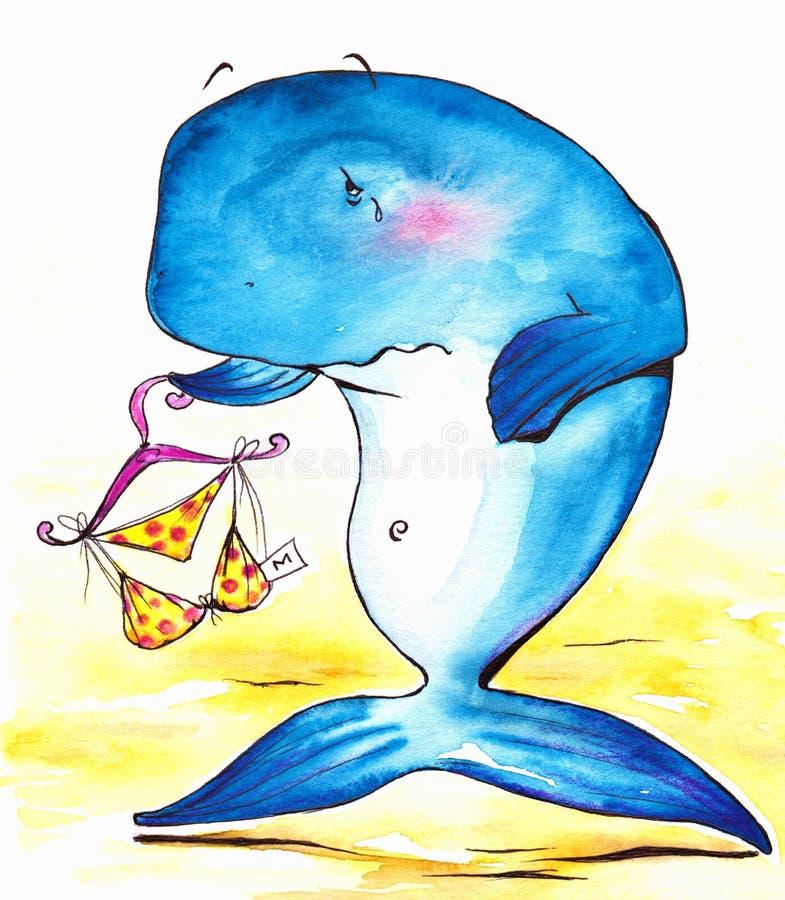 Walvis stock illustratie