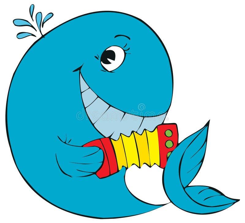 Walvis vector illustratie
