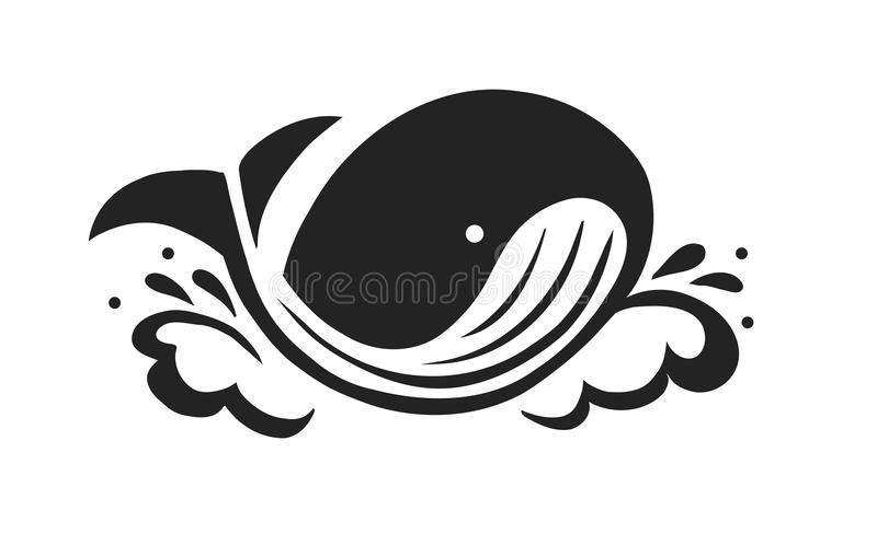 Walvis stock illustratie