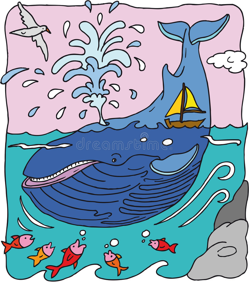 Walvis royalty-vrije illustratie