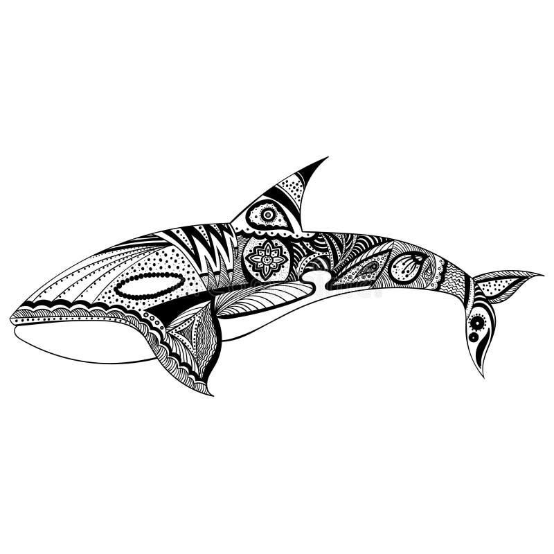 Walvis abstracte illustratie stock afbeelding