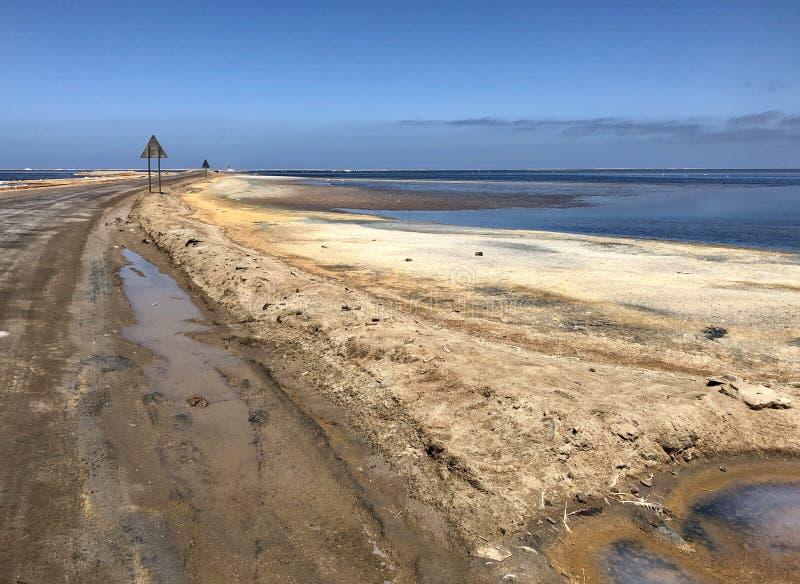 Walvis Bay lagoon stock image