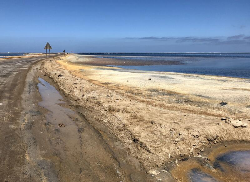 Walvis Bay lagune stock afbeelding