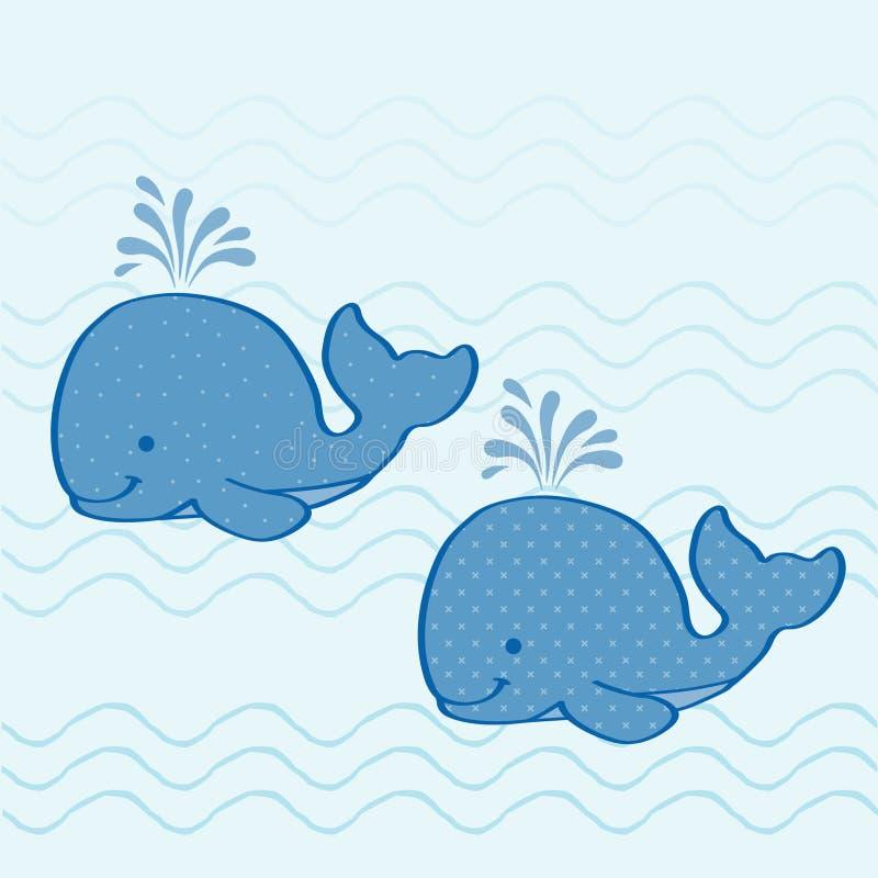Walvissen vector illustratie