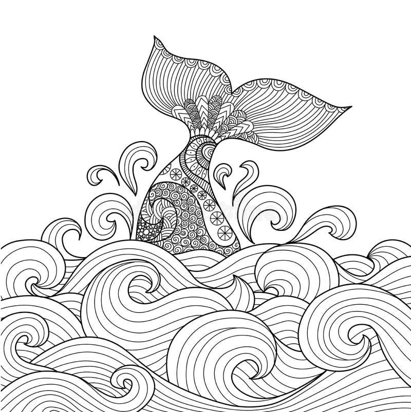 Walvisstaart stock illustratie