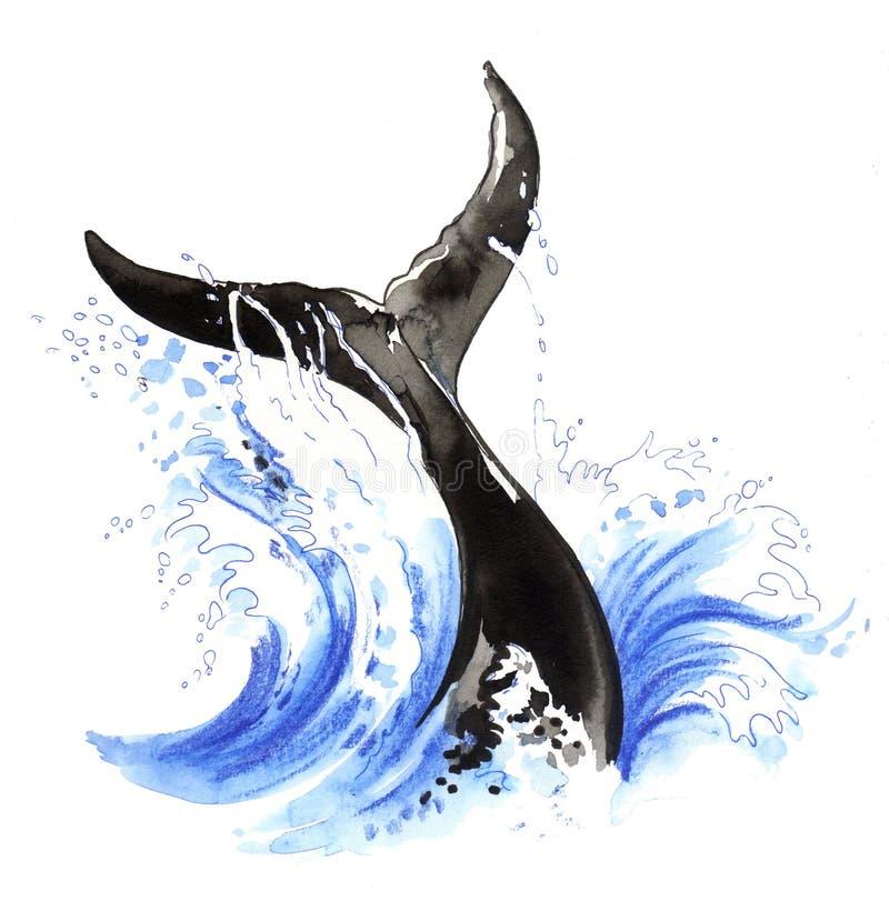 Walvisverhaal vector illustratie