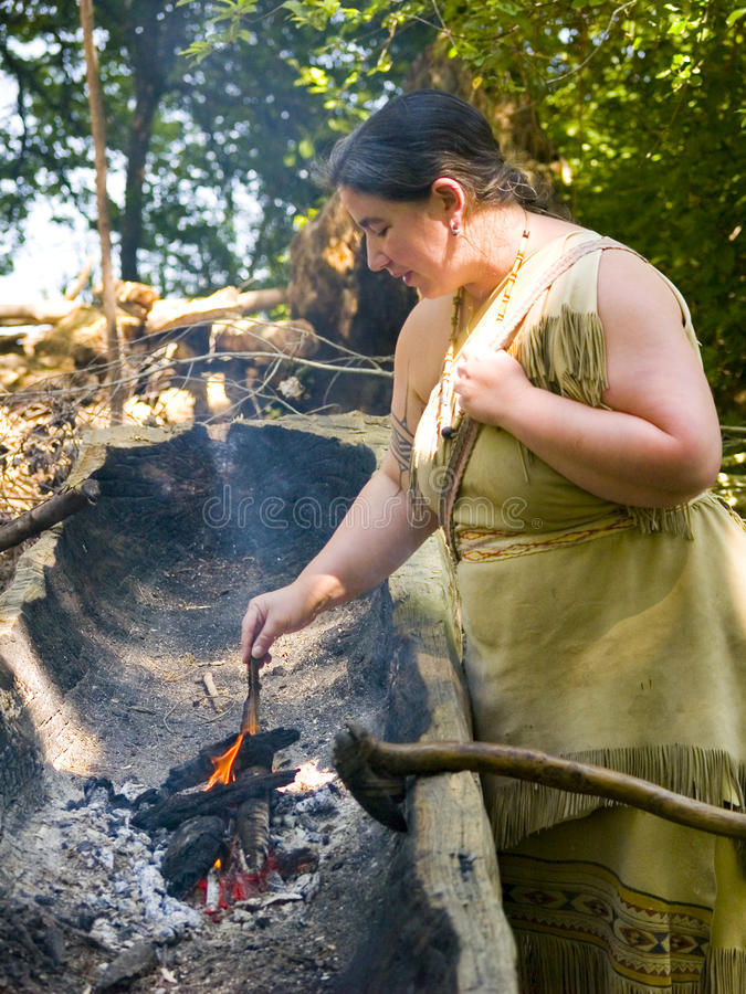 Wampanoag Inder-Frau stockfoto