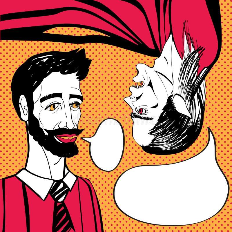 Wampir gadka ilustracja wektor