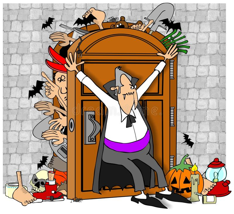 Wampir szafa royalty ilustracja
