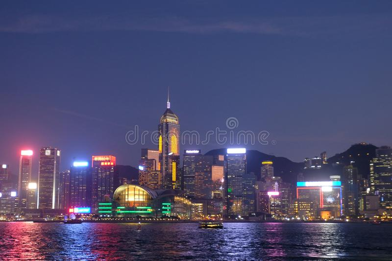 Wan Chai, Victoria Harbour, Hong Kong image stock