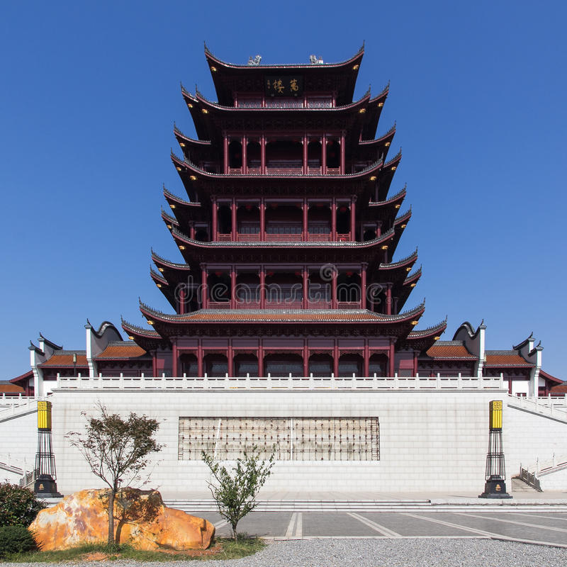 Wan Lou building. One traditional Chinese buidling in Xiangtan City, Hunan province, China royalty free stock images