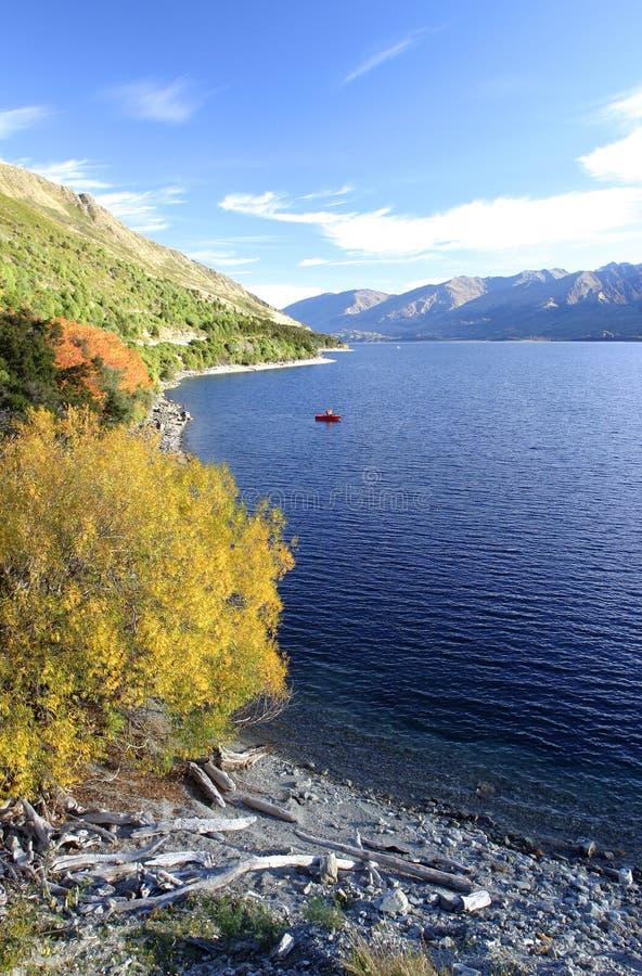 wanaka озера стоковое изображение rf