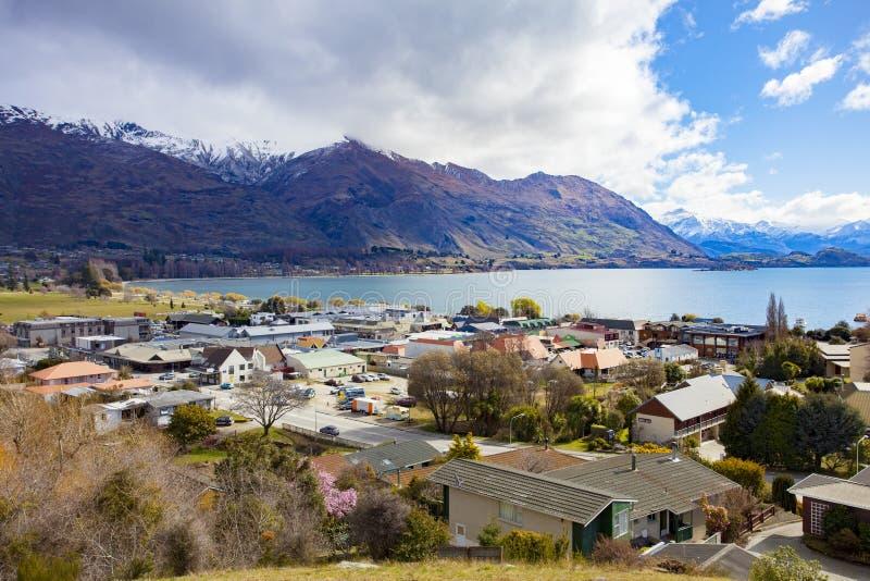 WANAKA NIEUW ZEELAND - 5,2015 SEPTEMBER: mooie toneel van wana stock fotografie