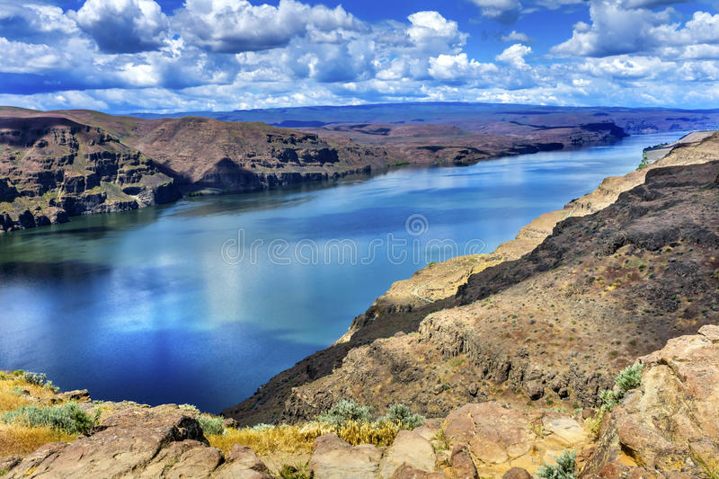 Wanapum Lake Colombia River Wild Horses Monument Washington. Wanapum Lake Colombia River Wild Horses Monument High Desert Vantage Washington royalty free stock images