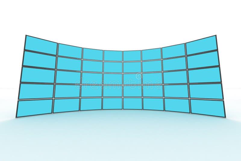 Wandüberwachungsgerät lizenzfreie abbildung