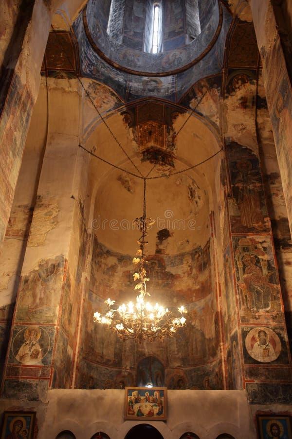 Wand aller Heilig-Kirche in Georgia stockfotografie