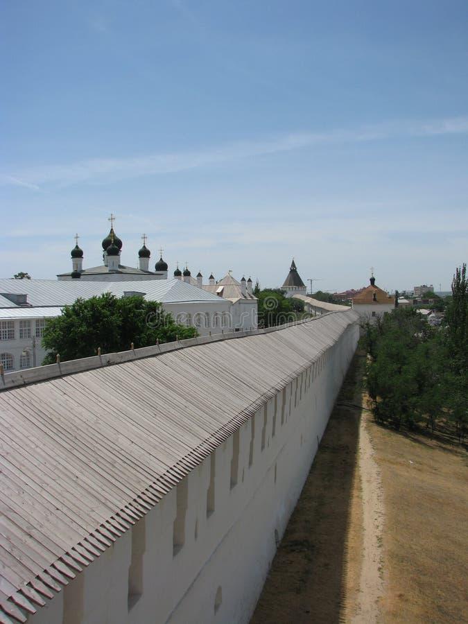 Wand Astrakhan der Kreml lizenzfreies stockbild