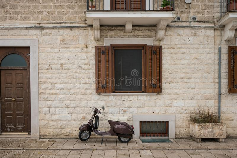 Wand in Bari, Italien stockfotografie