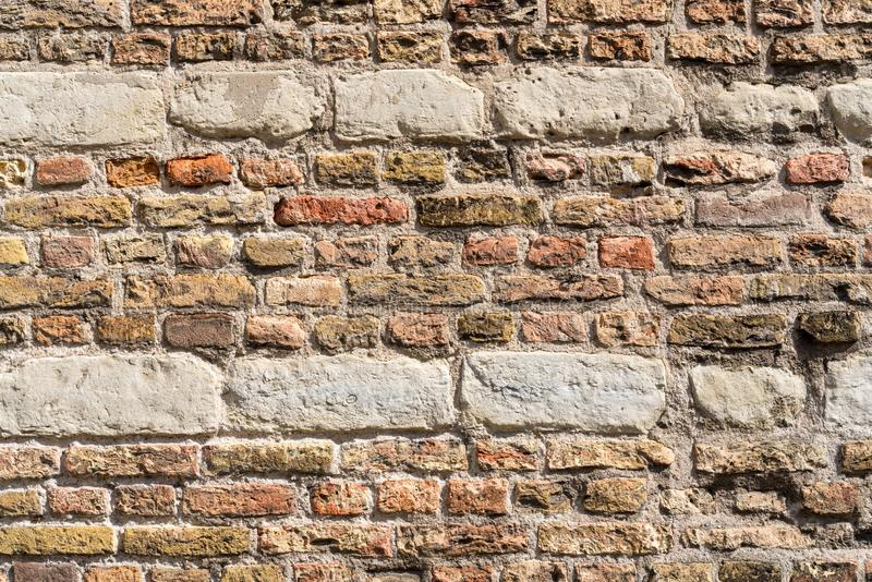 Wand-Beschaffenheitsschmutzhintergrund des roten Backsteins, verwendet m?glicherweise f?r Innenarchitektur stockfoto