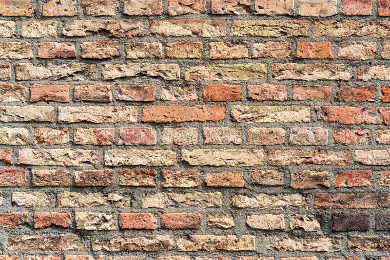 Wand-Beschaffenheitsschmutzhintergrund des roten Backsteins, verwendet m?glicherweise f?r Innenarchitektur stockfotos