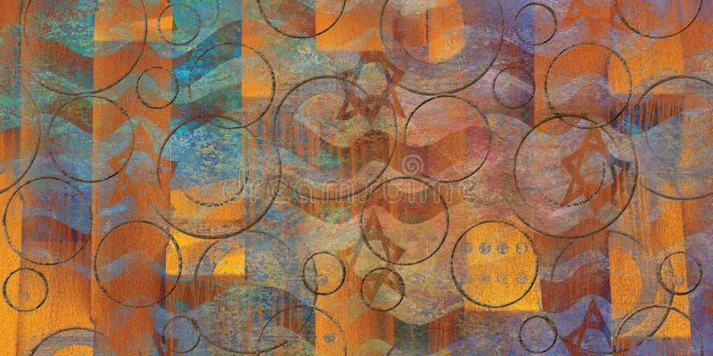 Wand-bunte abstrakte Beschaffenheits-luxuriöses Hintergrund-Beschaffenheits-Bild stockfotografie
