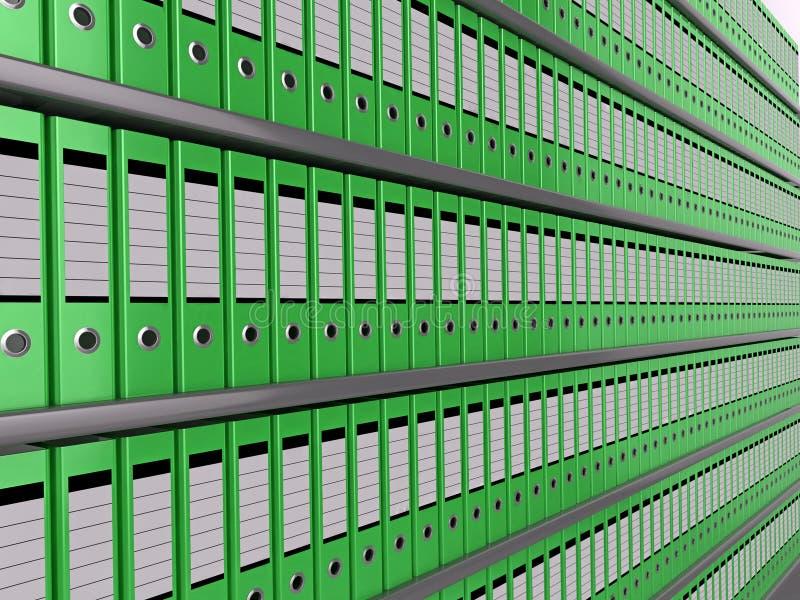 Wand der Dateien stockbild