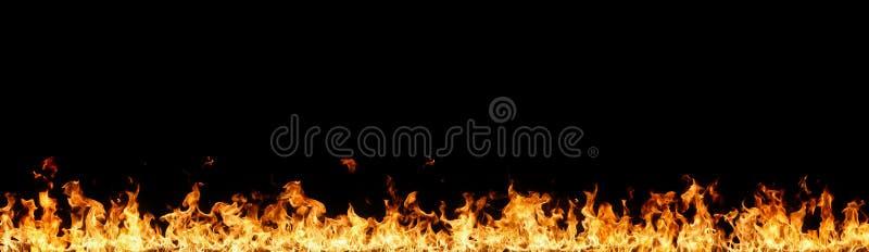 Wand der Flammen stockfoto