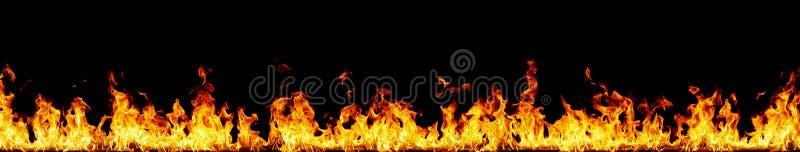 Wand der Flammen lizenzfreies stockfoto