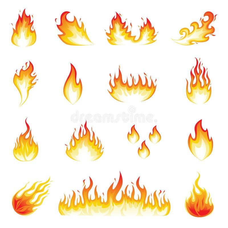 Wand der Flammen vektor abbildung