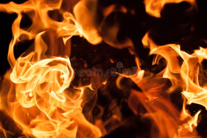 Wand der Flammen stockbild