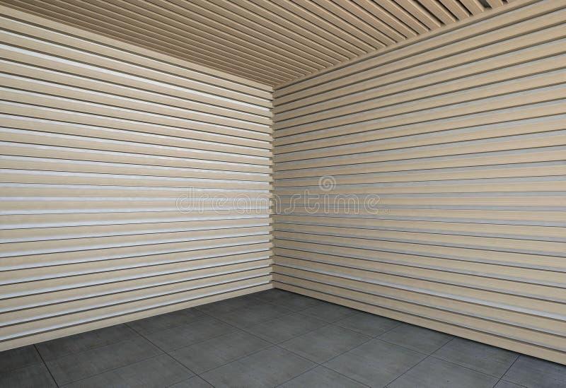 Wand der hölzernen Latten lizenzfreie abbildung