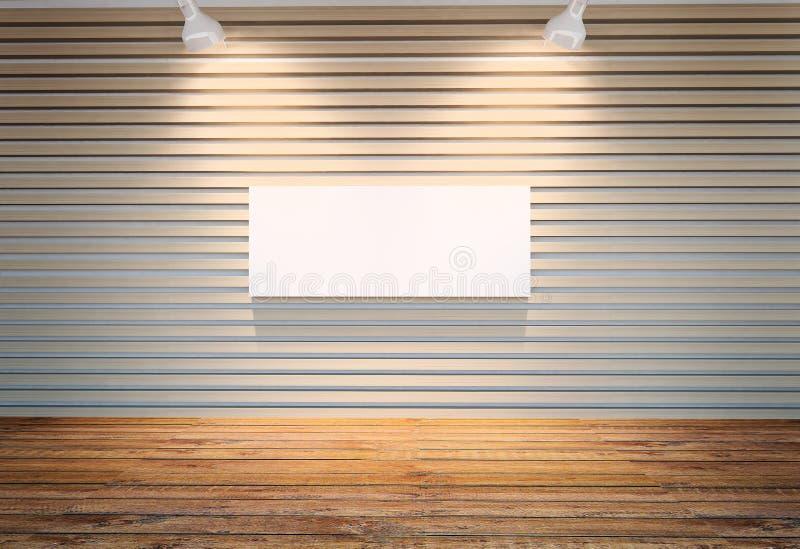 Wand der hölzernen Latten vektor abbildung