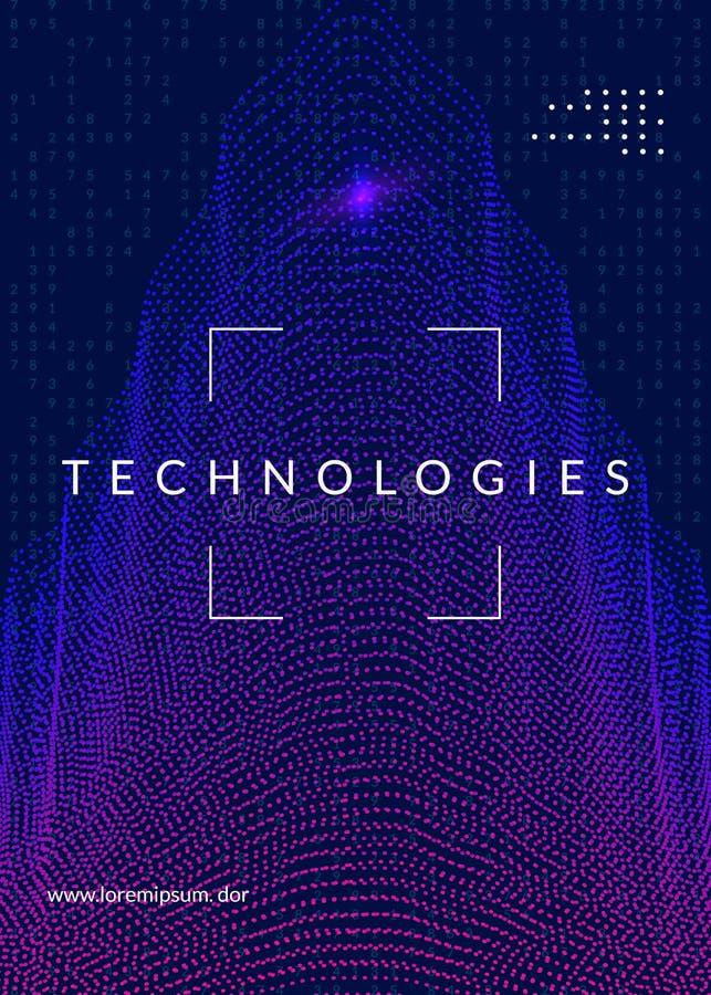 Wand der hölzernen Latten Technologie für große Daten, künstlich herein stock abbildung