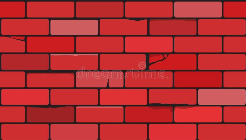 Wand der roten Ziegelsteine Überlagert, einfach zu bearbeiten lizenzfreie stockfotos