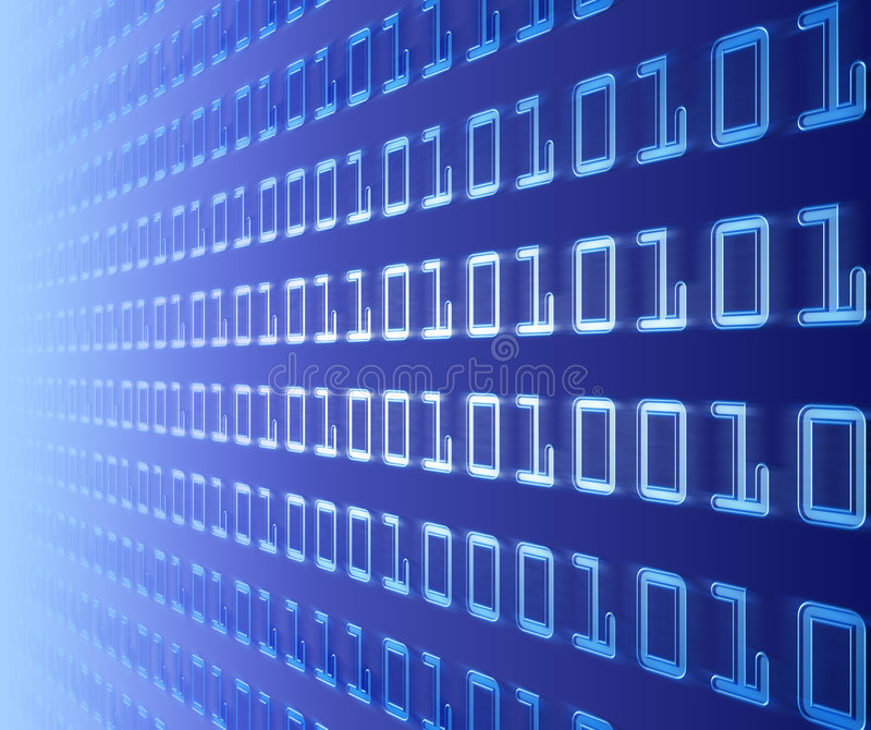 Wand des binären Codes lizenzfreie abbildung