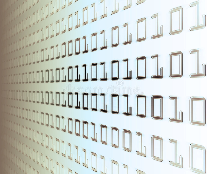 Wand des binären Codes stock abbildung