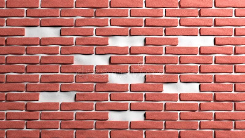 Wand des roten Backsteins stock abbildung