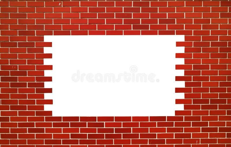 Wand des roten Backsteins Quadrat mit Raum für Text lizenzfreie stockbilder
