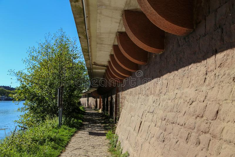 Wand des Sandsteins stockfotos