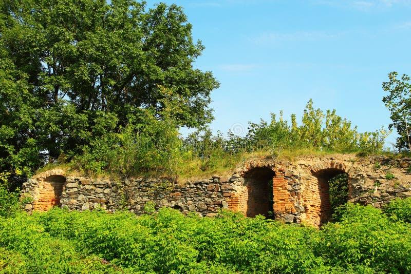 Download Wand Des Schlosses In Korets Stockfoto - Bild von zieleinheiten, touristisch: 26362408
