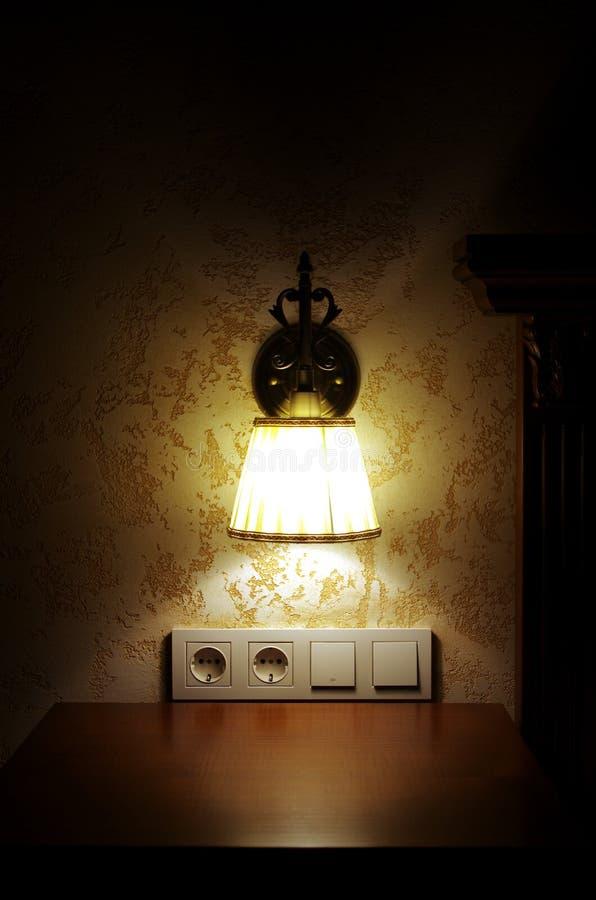 Wand-Lampe stockfoto