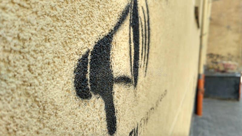 Wand mit einem Horn lizenzfreie stockfotografie