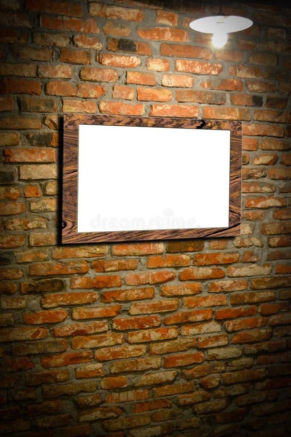 Wand mit Fotorahmen stockfoto