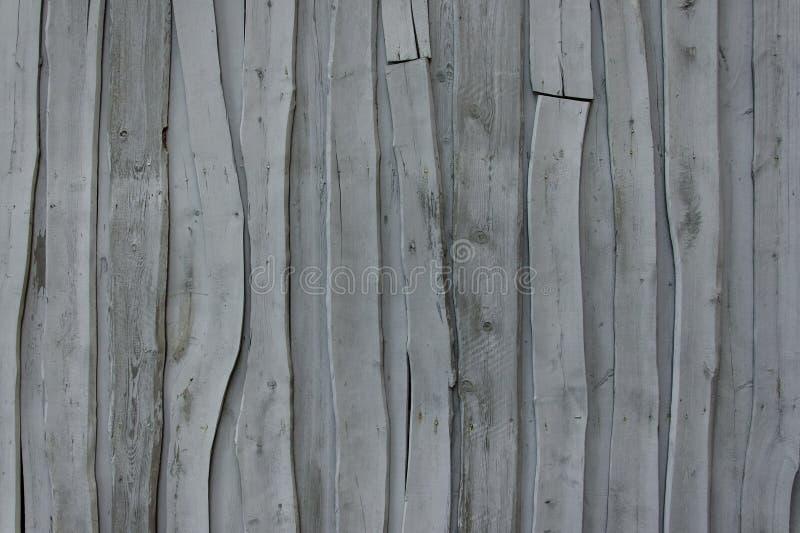 Wand von alten grauen abstrakten Brettern stockbild