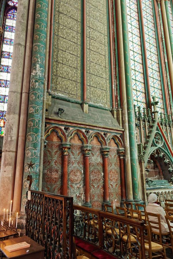 Wand von Amiens-Kathedrale von Notre Dame in Pikardie Frankreich lizenzfreie stockfotografie